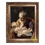 "St. Joseph and Child, Framed Canvas 24"" x 30"""