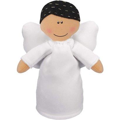 Angel Plush Doll-Boy with Black Hair