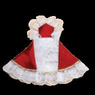 "24"" Red Satin Dress for Infant of Prague"