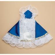 """8"""" Royal Blue Satin Dress for Infant of Prague"""