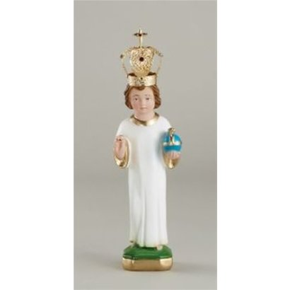 """8"""" Infant of Prague Statue to Dress With Metal Crown - Made in Italy"""