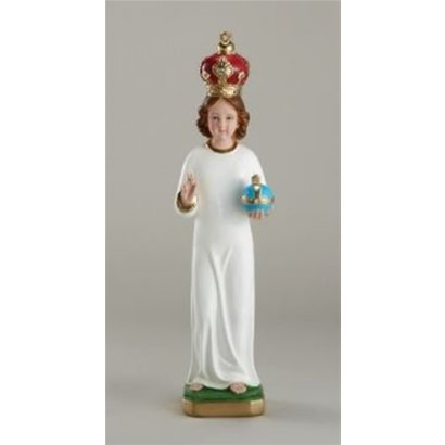 """12"""" Plaster Infant of Prague with Plaster Crown, Made in Italy"""