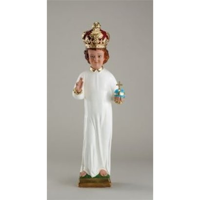 """24"""" Plaster Infant of Prague with Plaster Crown - Made in Italy"""