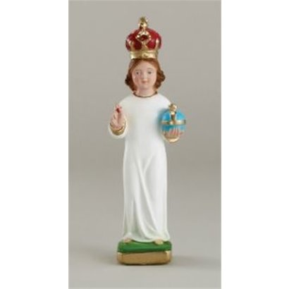 """8"""" Plaster Infant of Prague Statue with Plaster Crown, Made in Italy"""