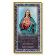 "Sacred Heart of Jesus Plaque, 5"" x 9"""
