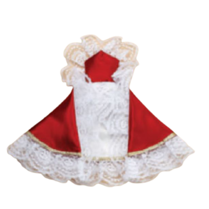 "16"" Infant of Prague Red Satin Dress"