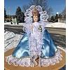 """24""""Infant of Prague Lit. Blue Satin Dress"""
