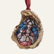 Oyster Ornament • Stained Glass Jesus