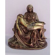 """Pieta in the Veronese collection in cold-cast bronze and lightly hand-painted, 10"""""""