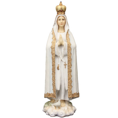 Our Lady of Fatima Veronese statue beautifully hand-painted in full color, 10