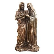 """Holy Family, 1pc, lightly hand-painted cold cast bronze, 5x10""""."""
