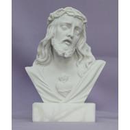 """Sacred Heart of Jesus Bust Alabaster base 5"""""""