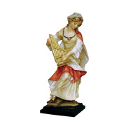 """St. Cecilia- baroque, Hand- painted Alabaster, 8"""""""