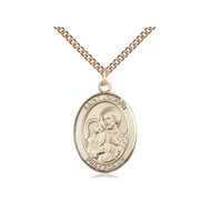 """St. Joseph  Medal 14kt Gold Filled with Heavy Curb Chain 24"""""""