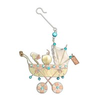 Baby Buggy Boy Ornament