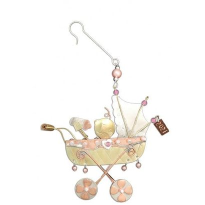 Baby Buggy Girl Ornament