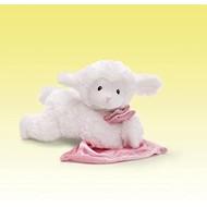 "Lena Lamb with Pink Sheep - Plays:  ""As I Lay Me Down to Sleep""."