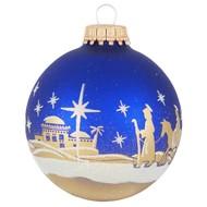 """2 5/8"""" Ball Ornaments - Glitter Bethlehem Scene Multi"""