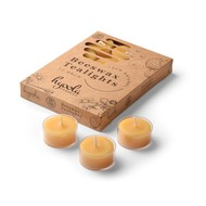 Yellow Beeswax Tealights in Clear Cup- 12 Pack