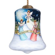 Musical Angel Hand Painted Christmas Glass Ornament