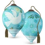Large Dove With Teal Sky Ornament