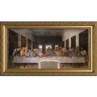 "DaVinci Last Supper , Framed Canvas 53"" x 101"""