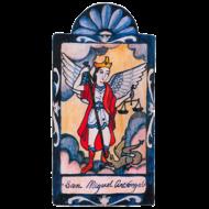 San Miguel Archangel  Small Retablo  - Archangel Patron of  Law Enforcement