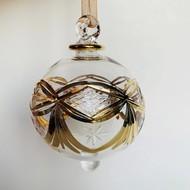 Fair Trade,  Made in Egypt, Blown Glass Ornament - Gold Garland
