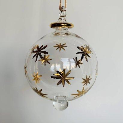 Fair Trade,  Made in Egypt,  Blown Glass Ornament - Gold Stars