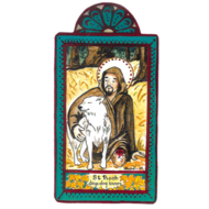 St. Roch Small Size Retablo, Dog Lovers