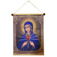 Virgin Mary Softener Evil Hearts - Hanging Tapestry Icon