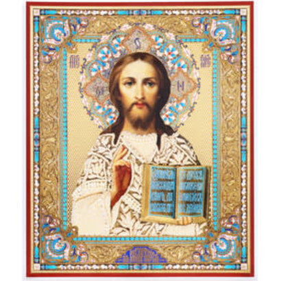 """Christ The Teacher Wooden Gold Foil 8 3/4""""x7 1/4"""""""