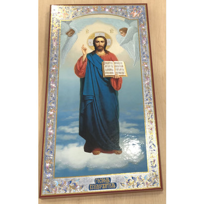 "Christ The Teacher Russian Icon, 19"" x 9-1/2"""