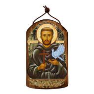 Saint Francis Wooden Icon Ornament