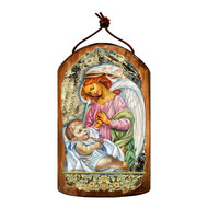 Blessing Angels Wooden Icon Ornament