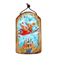 Flying Angel Wooden Icon Ornament