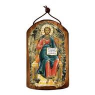 Jesus Wooden Icon Ornament