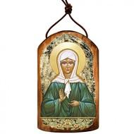 Matrona Plaque Wooden Icon Ornament