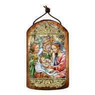 Nativity Wooden Icon Ornament