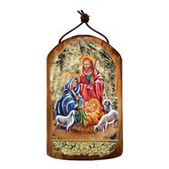 Holy Family Wooden Icon Ornament