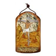 Crucifixion Wooden Icon Ornament