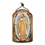 Resurrection Wooden Icon Ornament