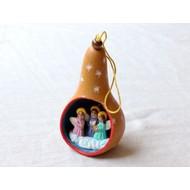 Fair Trade Christmas Gourd Ornament - Natural