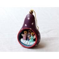 Fair Trade Christmas Gourd Ornament - Purple
