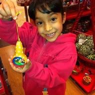 Fair Trade Nativity Christmas Gourd Ornament -  Natural