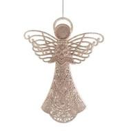 Large Plastic Glittered Angel Ornament