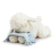 Blue Goodnight Prayer Plush Lamb