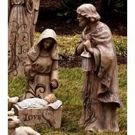 Mary Joseph and Baby Jesus Large Nativity Trio