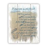 Wood Pallet Sign - Footprints