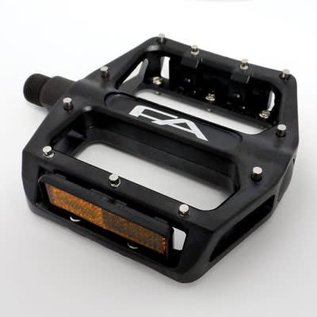 "Free Agent Free Agent Two X 9/16"" Alloy Pedals Blk"